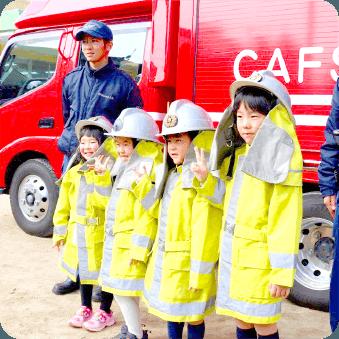 消防士体験の様子の写真